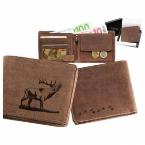 Kožená peňaženka jeleň 2 ležatá