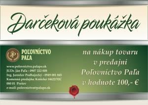 Darčeková poukážka 100,- €